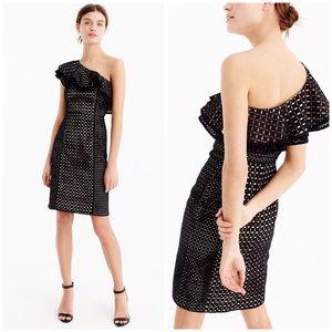 🆕 J. Crew Collection one shoulder eyelet dress